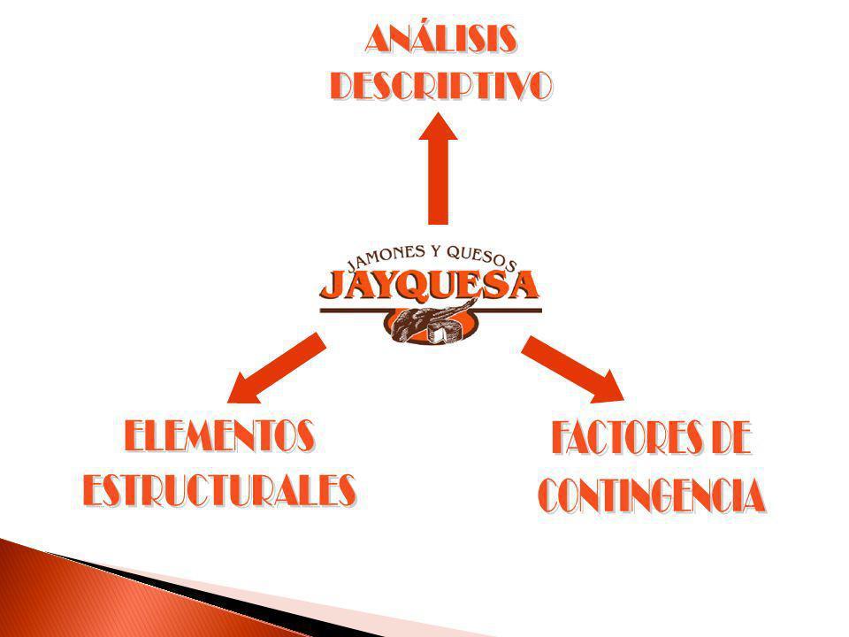 ANÁLISIS DESCRIPTIVO ELEMENTOS ESTRUCTURALES FACTORES DE CONTINGENCIA