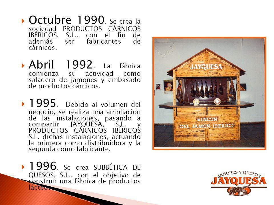 Octubre 1990. Se crea la sociedad PRODUCTOS CÁRNICOS IBÉRICOS, S. L