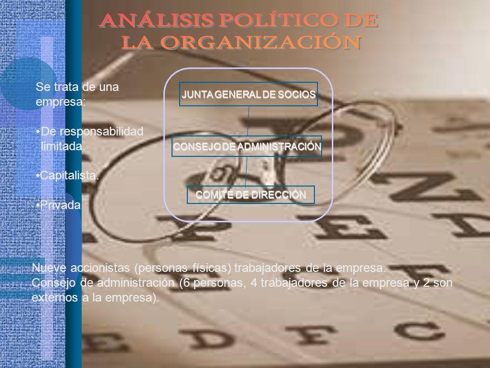 ANÁLISIS POLÍTICO DE LA ORGANIZACIÓN