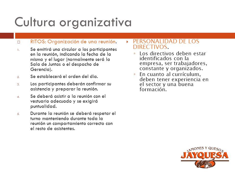 Cultura organizativa RITOS: Organización de una reunión.