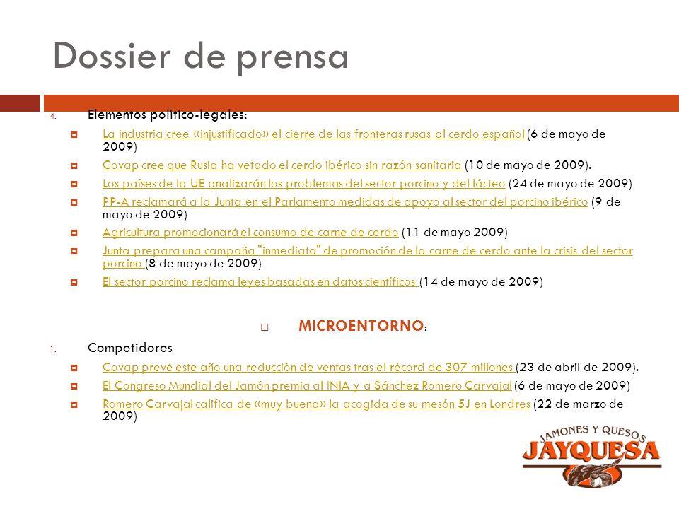 Dossier de prensa MICROENTORNO: Elementos político-legales:
