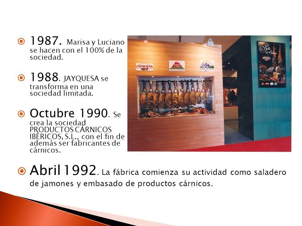 1987. Marisa y Luciano se hacen con el 100% de la sociedad.
