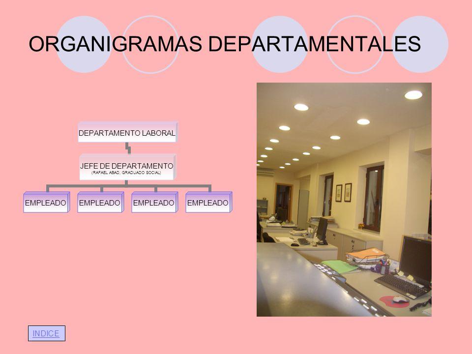 ORGANIGRAMAS DEPARTAMENTALES