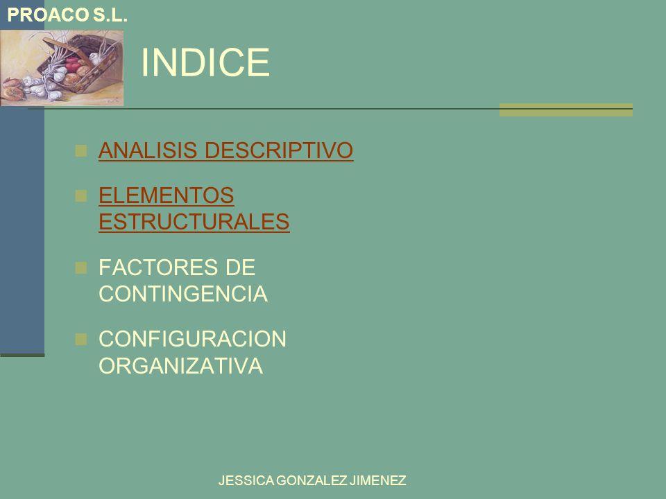 INDICE ANALISIS DESCRIPTIVO ELEMENTOS ESTRUCTURALES