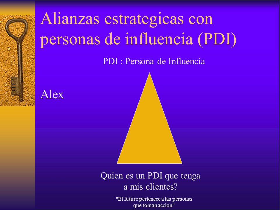 Alianzas estrategicas con personas de influencia (PDI)