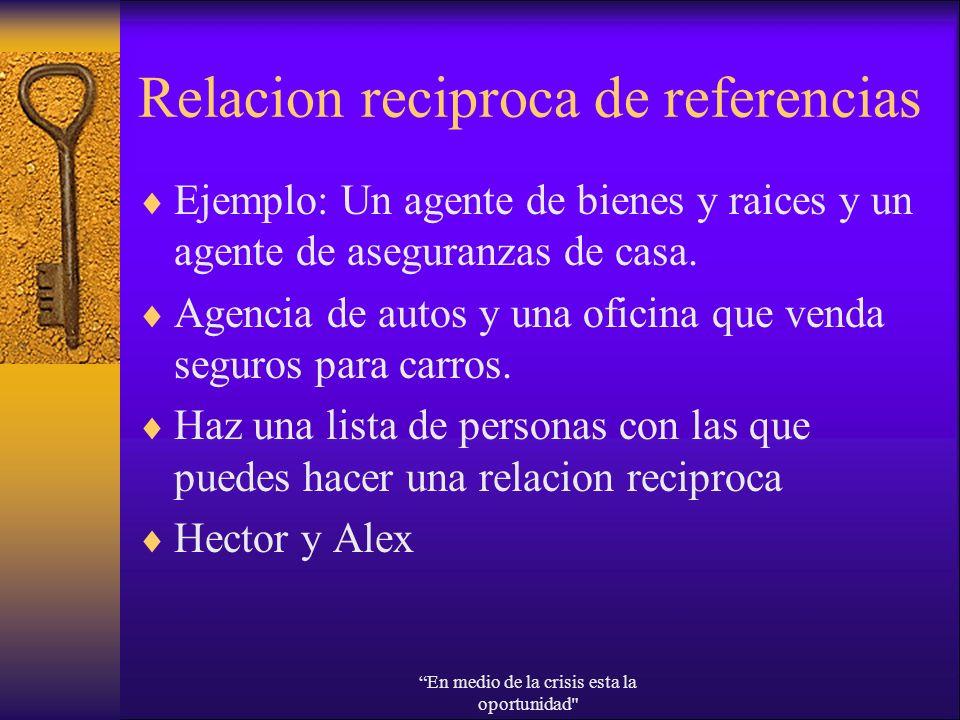 Relacion reciproca de referencias
