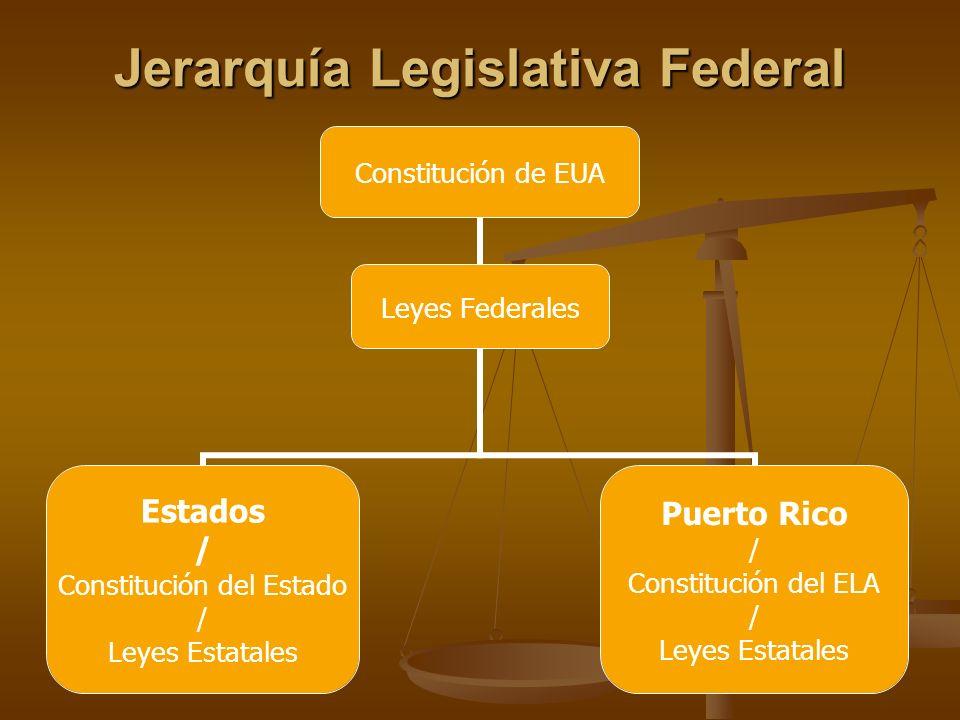 Jerarquía Legislativa Federal