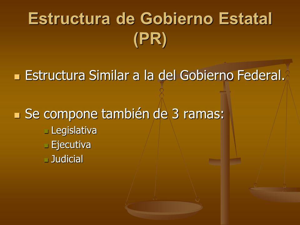 Estructura de Gobierno Estatal (PR)