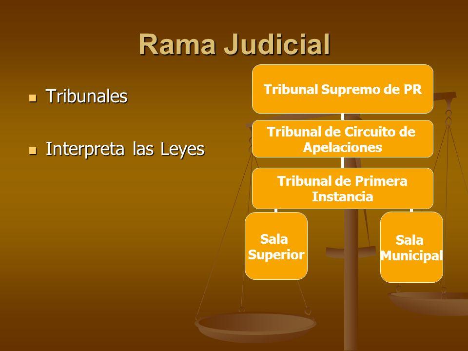 Rama Judicial Tribunales Interpreta las Leyes
