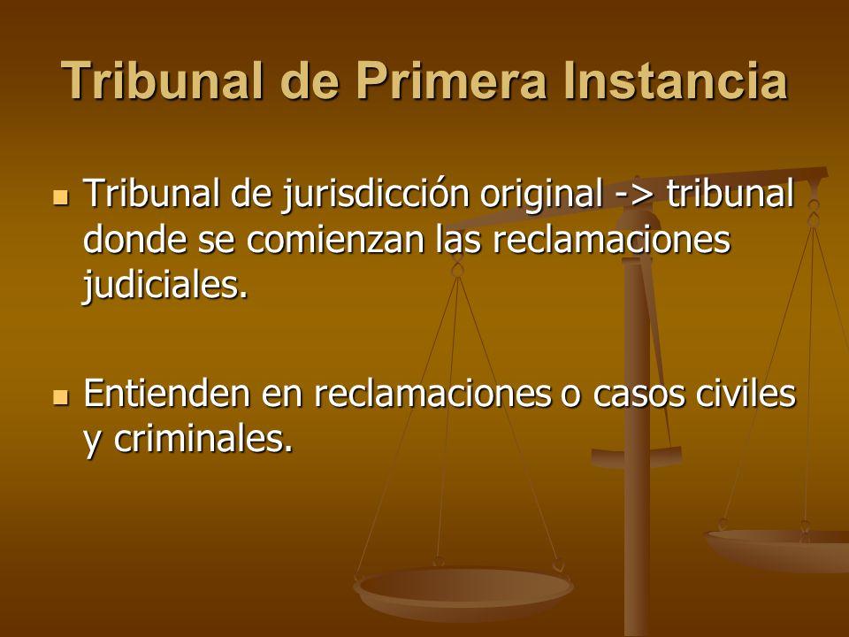 Tribunal de Primera Instancia