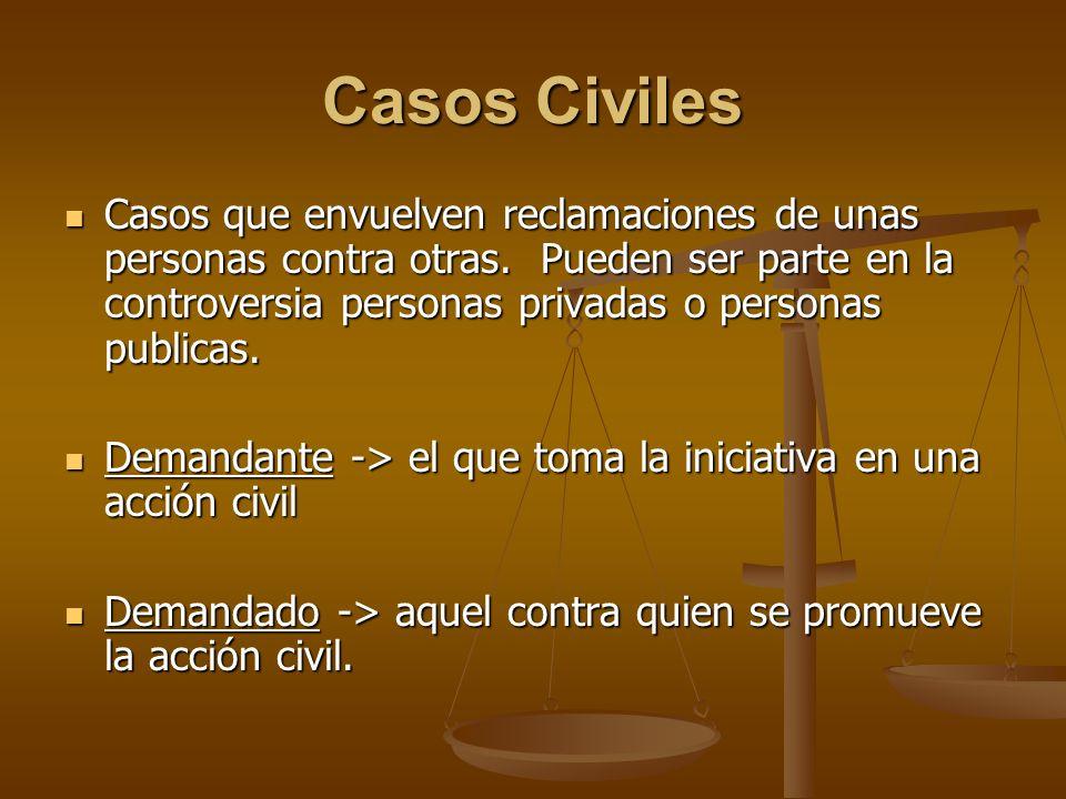Casos Civiles
