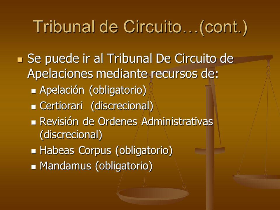 Tribunal de Circuito…(cont.)