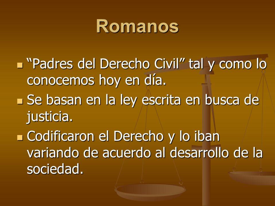 Romanos Padres del Derecho Civil tal y como lo conocemos hoy en día.