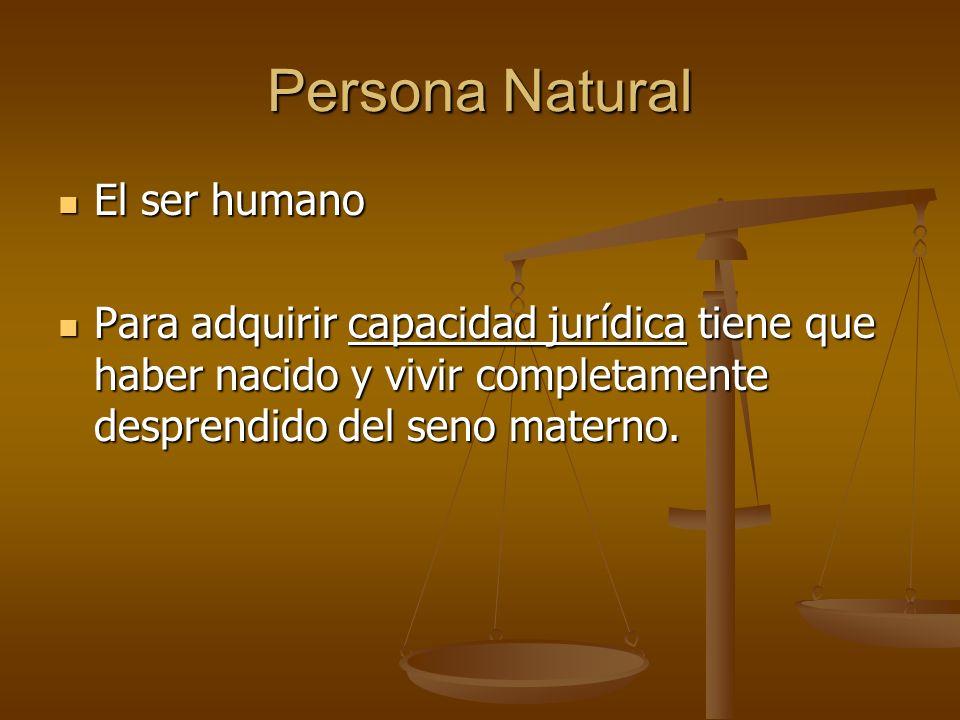 Persona Natural El ser humano