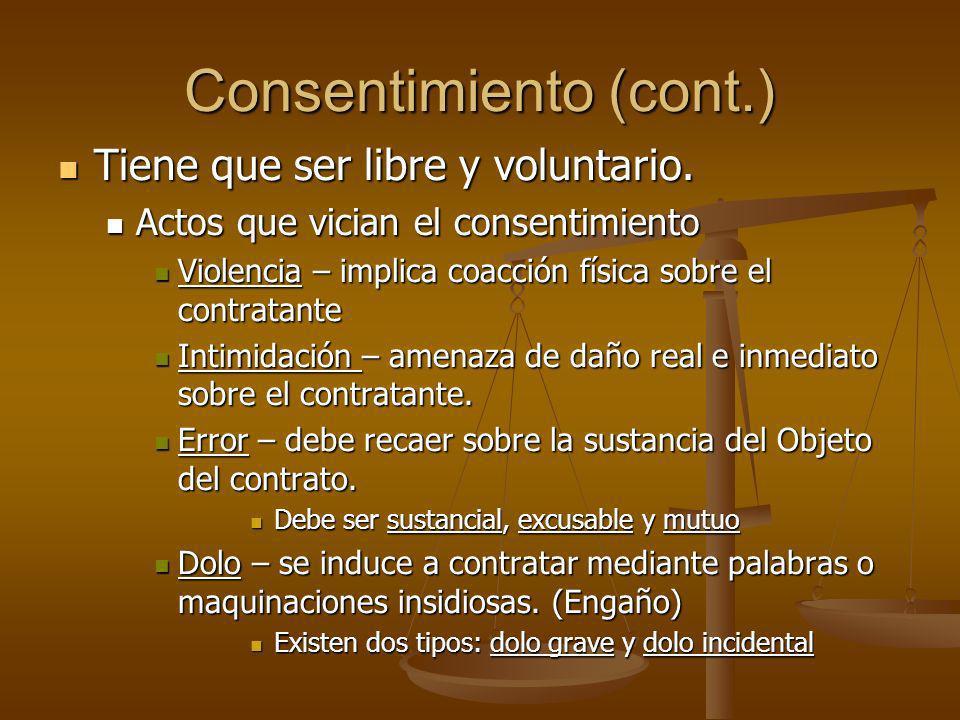 Consentimiento (cont.)