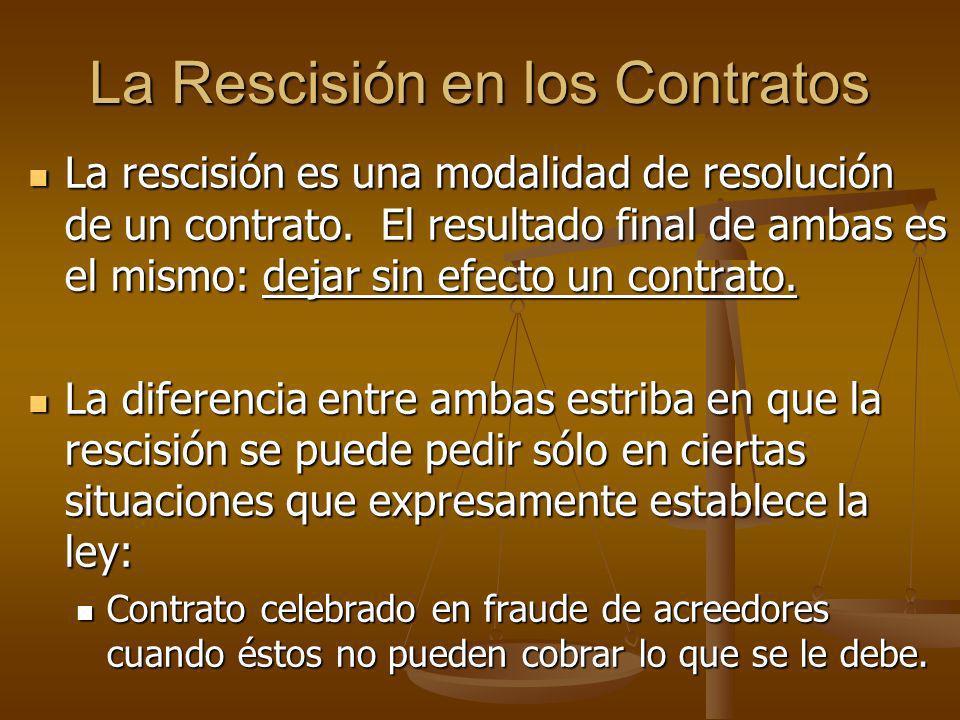 La Rescisión en los Contratos