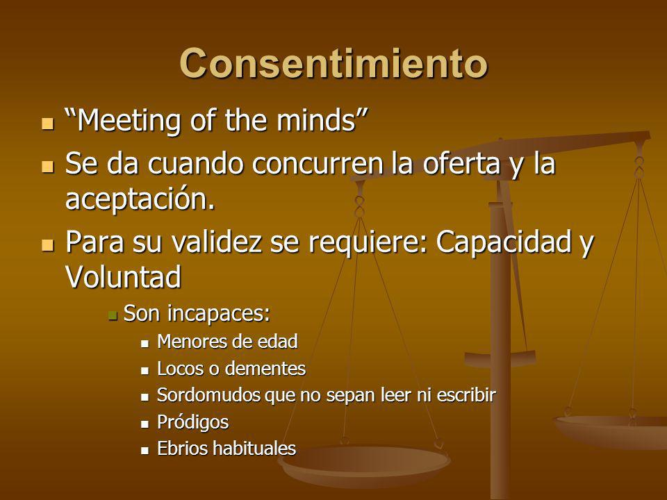 Consentimiento Meeting of the minds