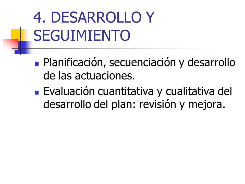 4. DESARROLLO Y SEGUIMIENTO