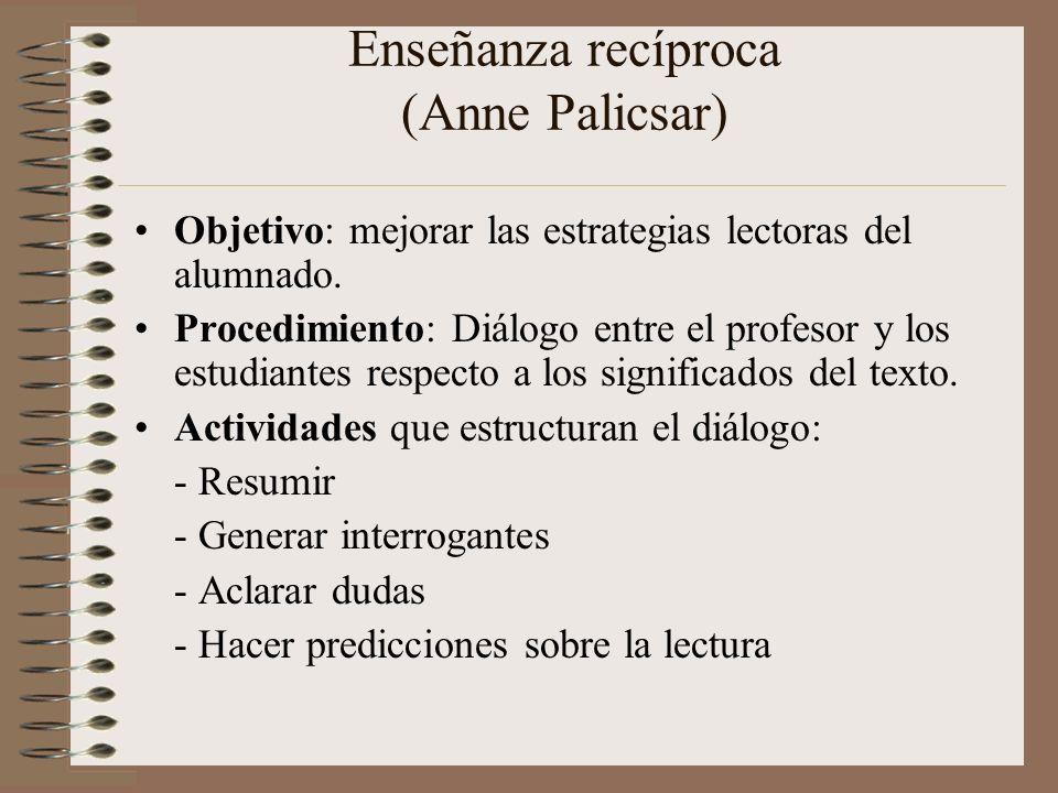 Enseñanza recíproca (Anne Palicsar)