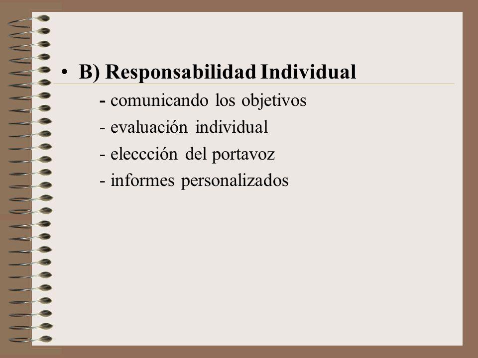 B) Responsabilidad Individual