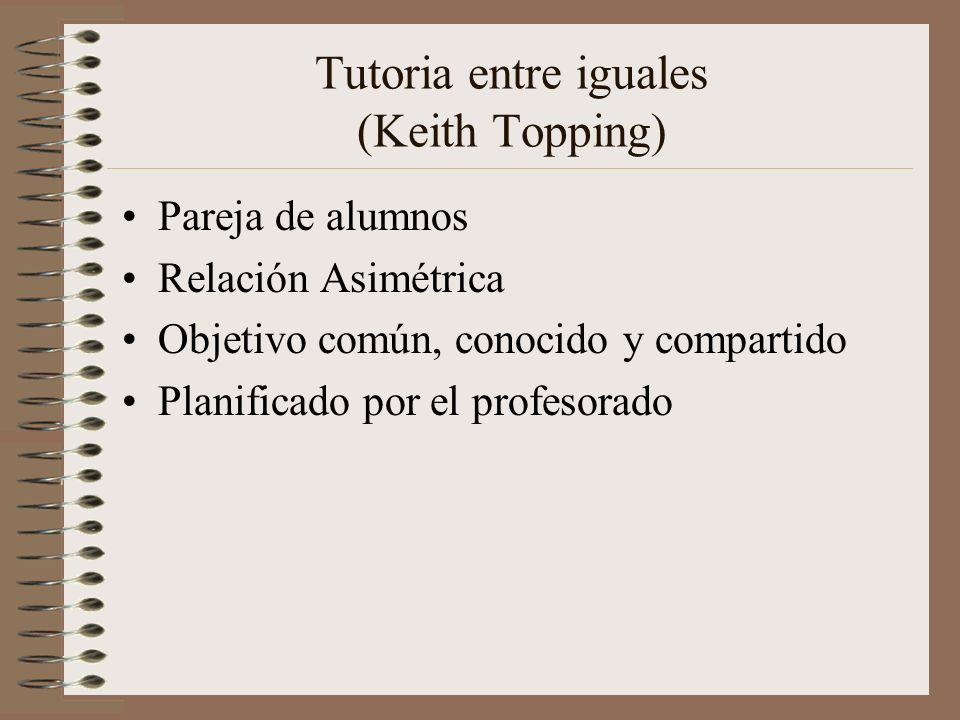Tutoria entre iguales (Keith Topping)