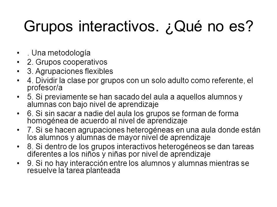 Grupos interactivos. ¿Qué no es