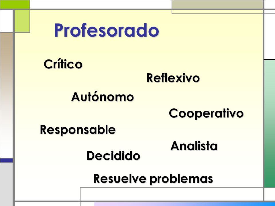 Profesorado Crítico Reflexivo Autónomo Cooperativo Responsable