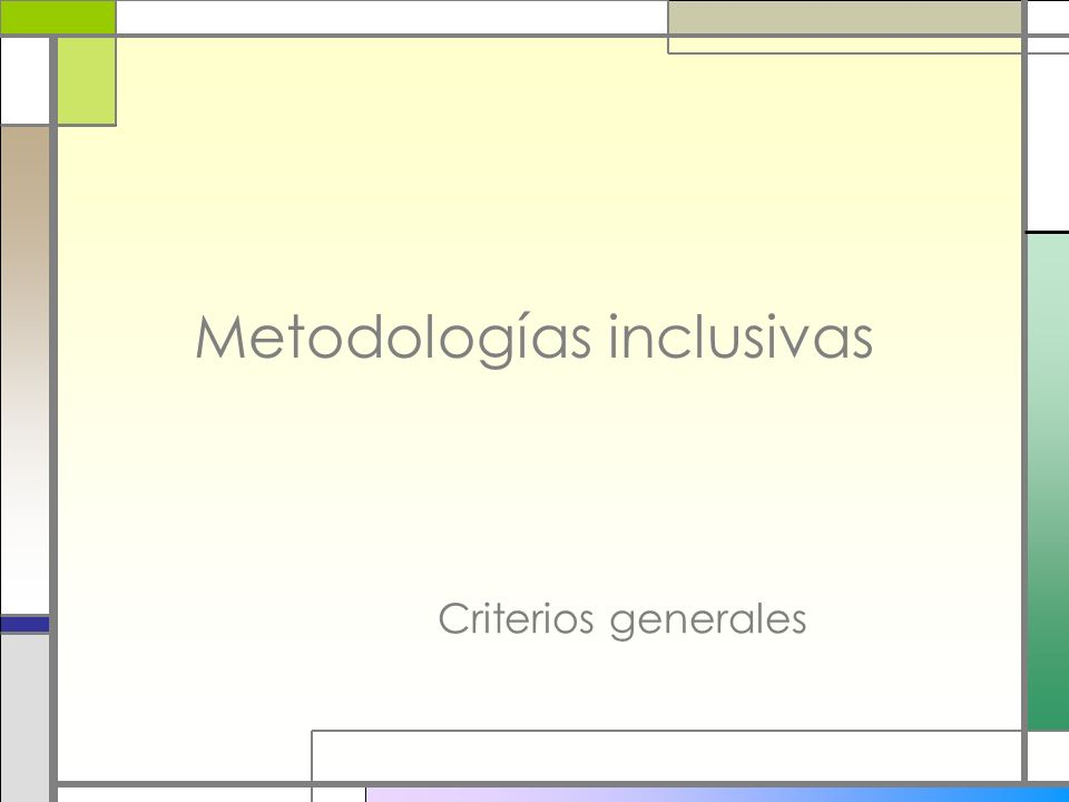 Metodologías inclusivas