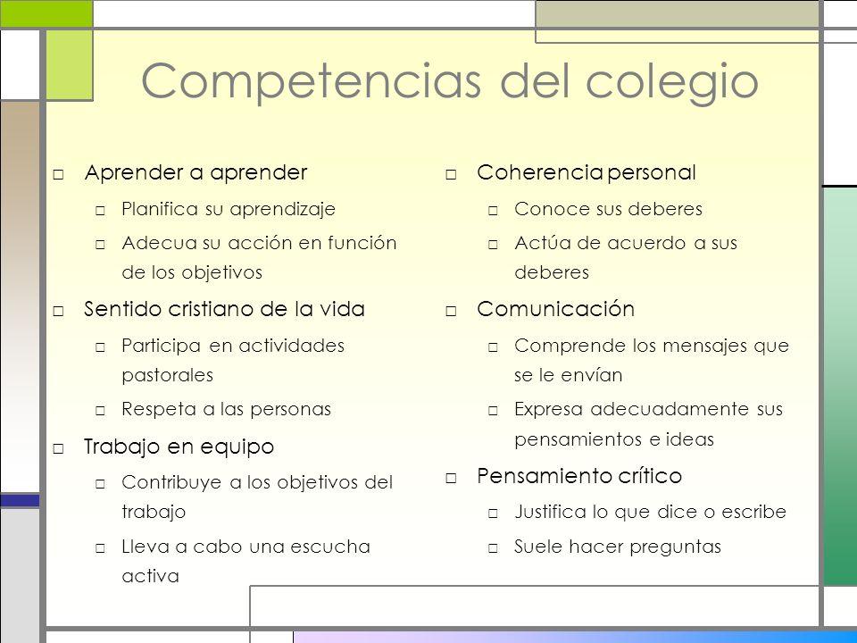 Competencias del colegio