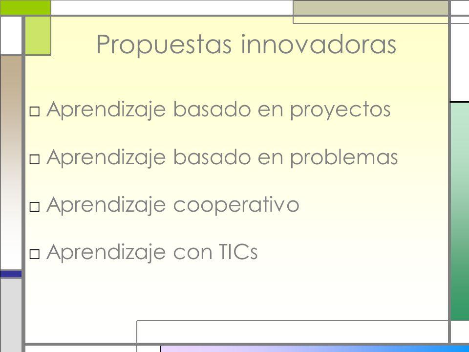 Propuestas innovadoras