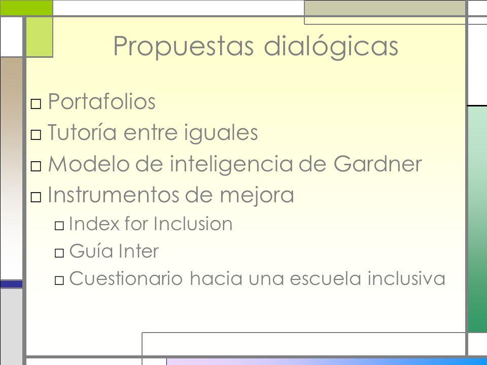 Propuestas dialógicas