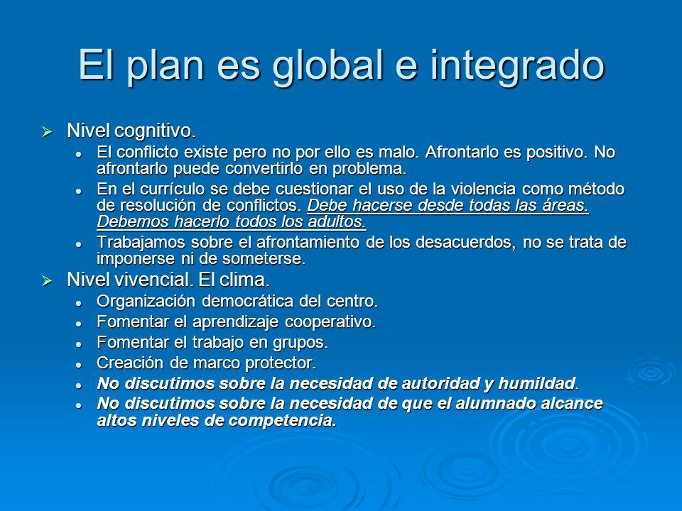 El plan es global e integrado