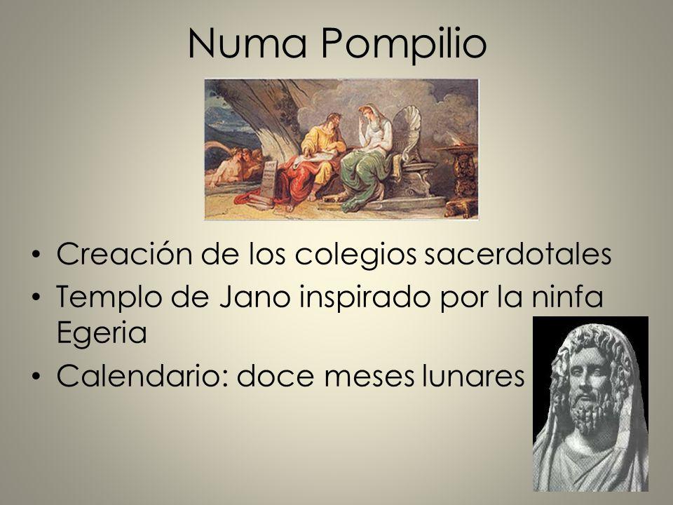 Numa Pompilio Creación de los colegios sacerdotales