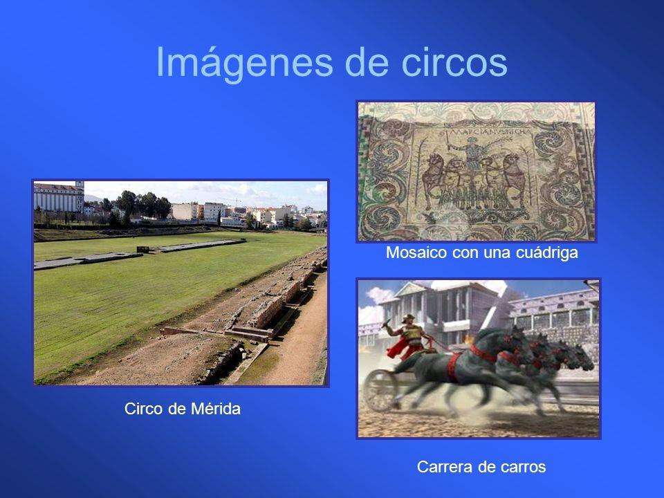 Imágenes de circos Mosaico con una cuádriga Circo de Mérida
