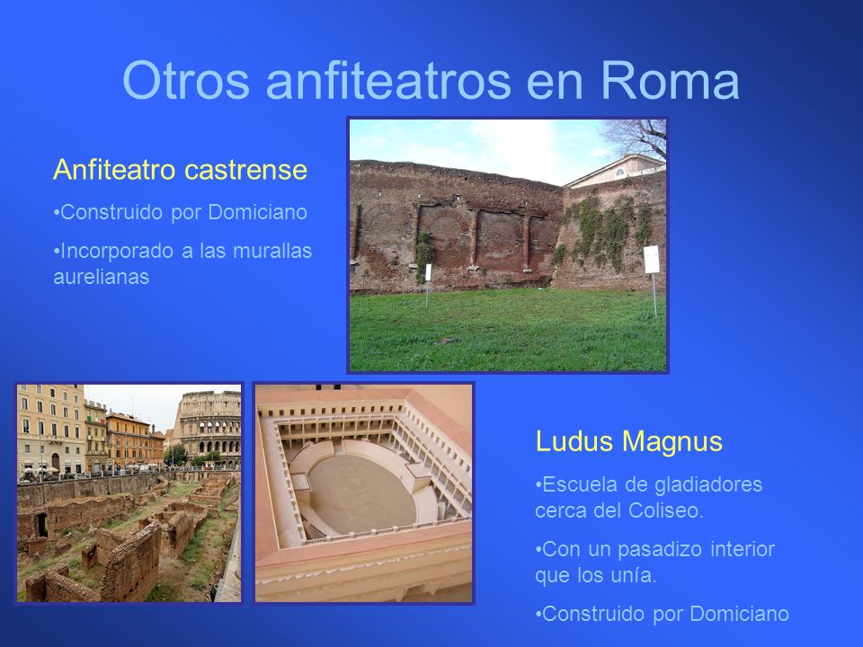 Otros anfiteatros en Roma