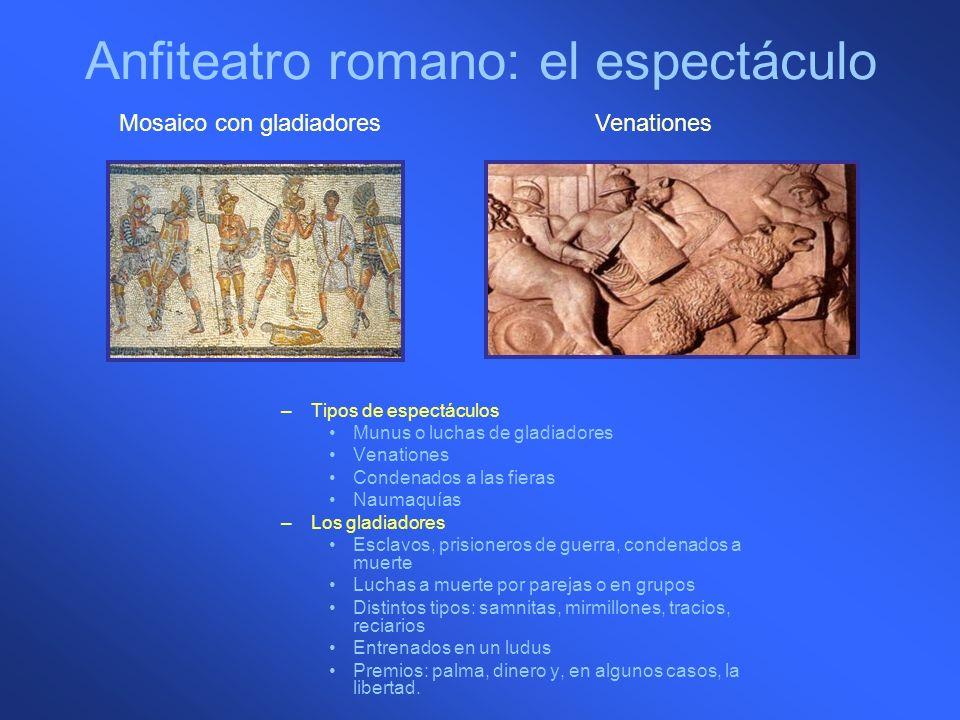 Anfiteatro romano: el espectáculo