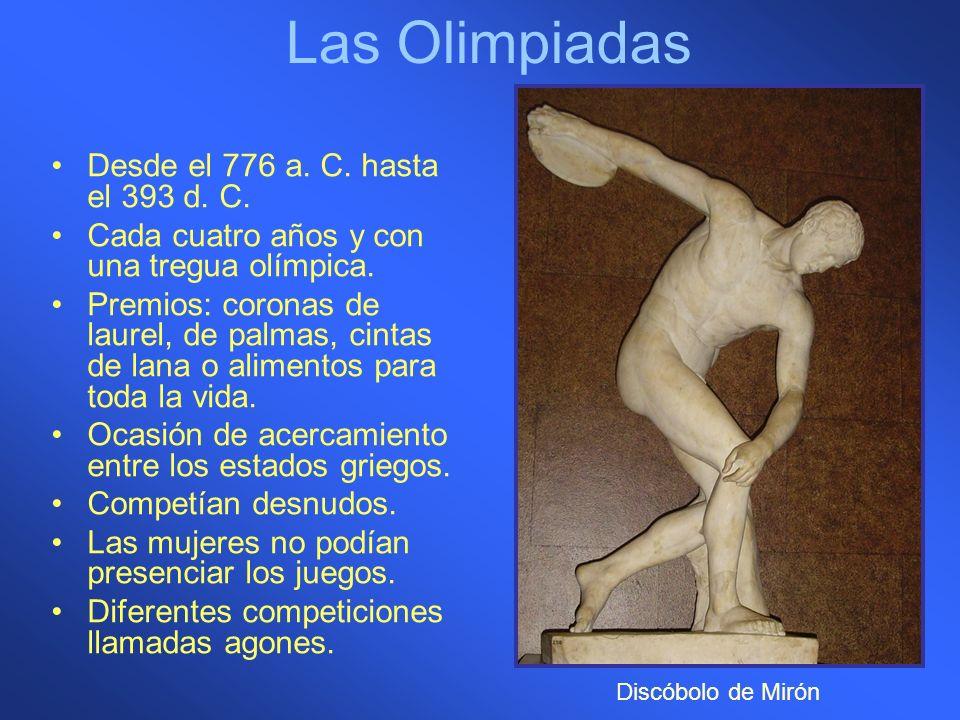 Las Olimpiadas Desde el 776 a. C. hasta el 393 d. C.