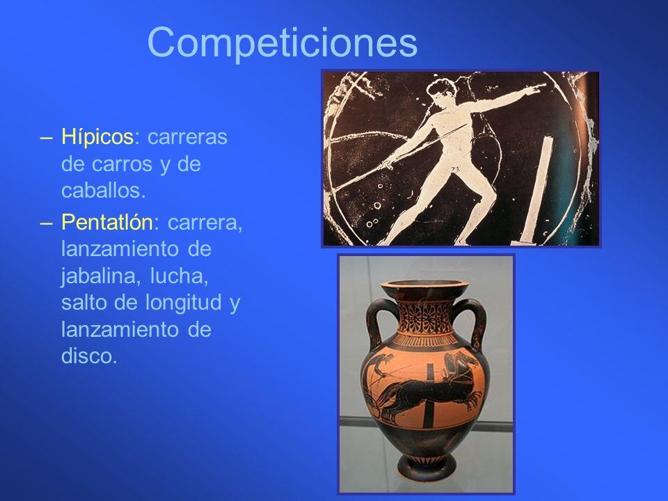 Competiciones Hípicos: carreras de carros y de caballos.