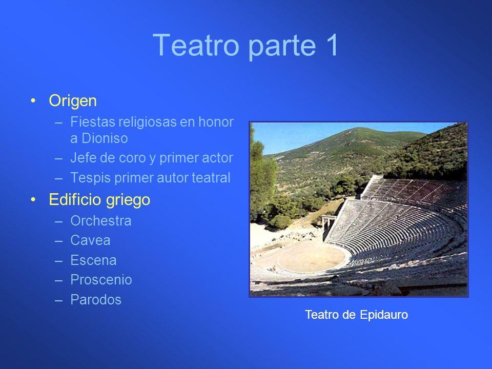 Teatro parte 1 Origen Edificio griego