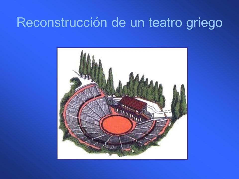 Reconstrucción de un teatro griego