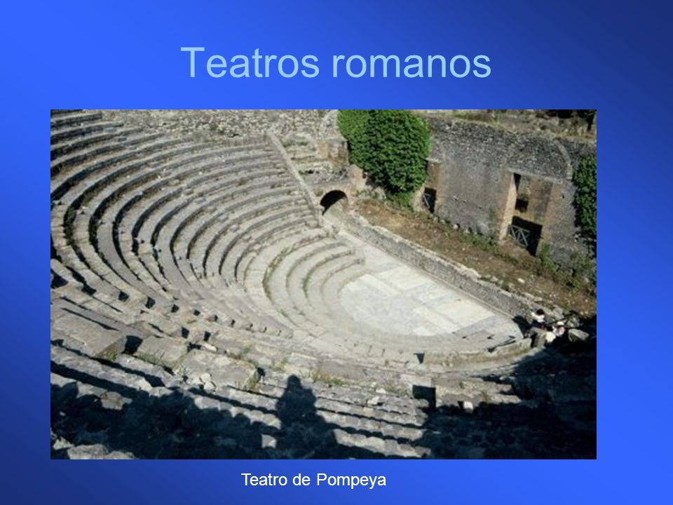 Teatros romanos Teatro de Pompeya