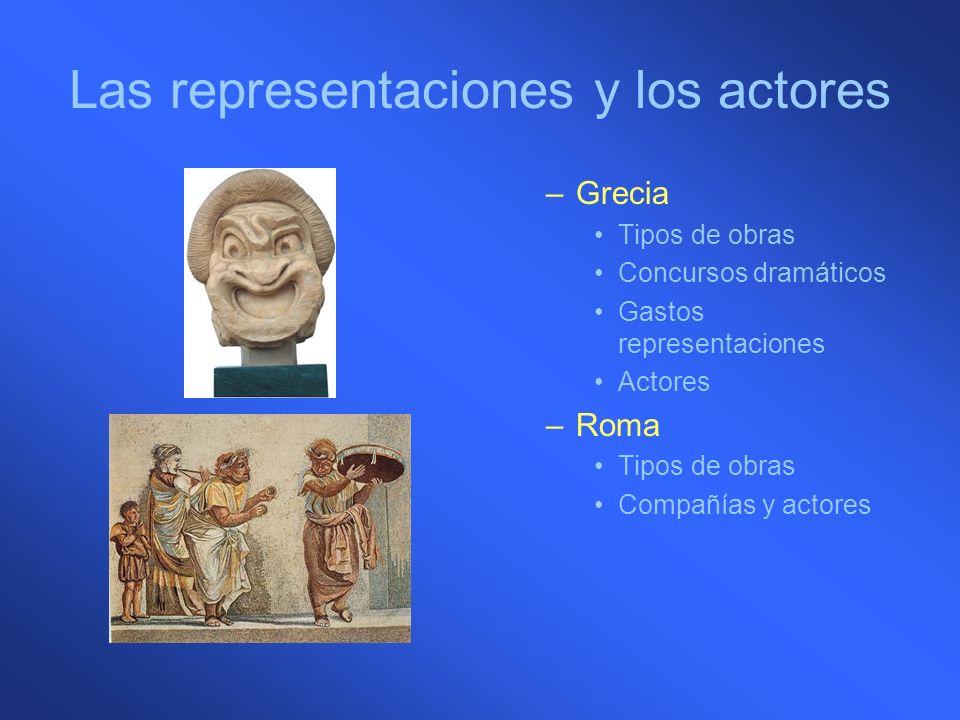 Las representaciones y los actores