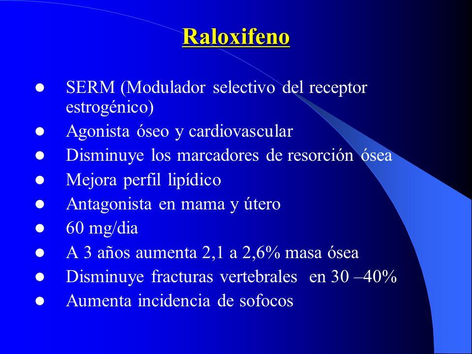 Raloxifeno SERM (Modulador selectivo del receptor estrogénico)