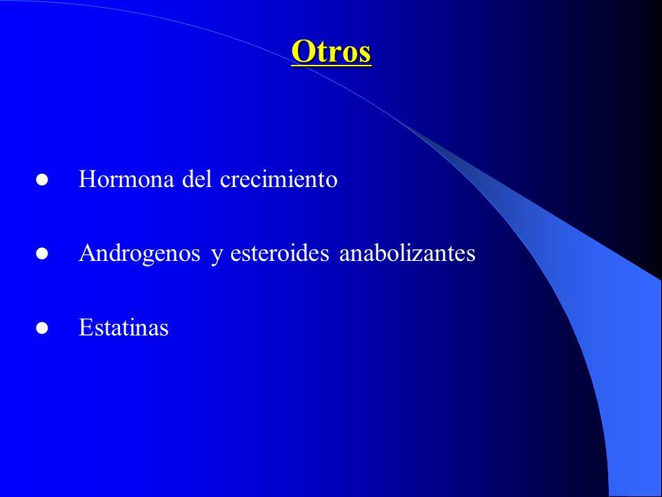 Otros Hormona del crecimiento Androgenos y esteroides anabolizantes