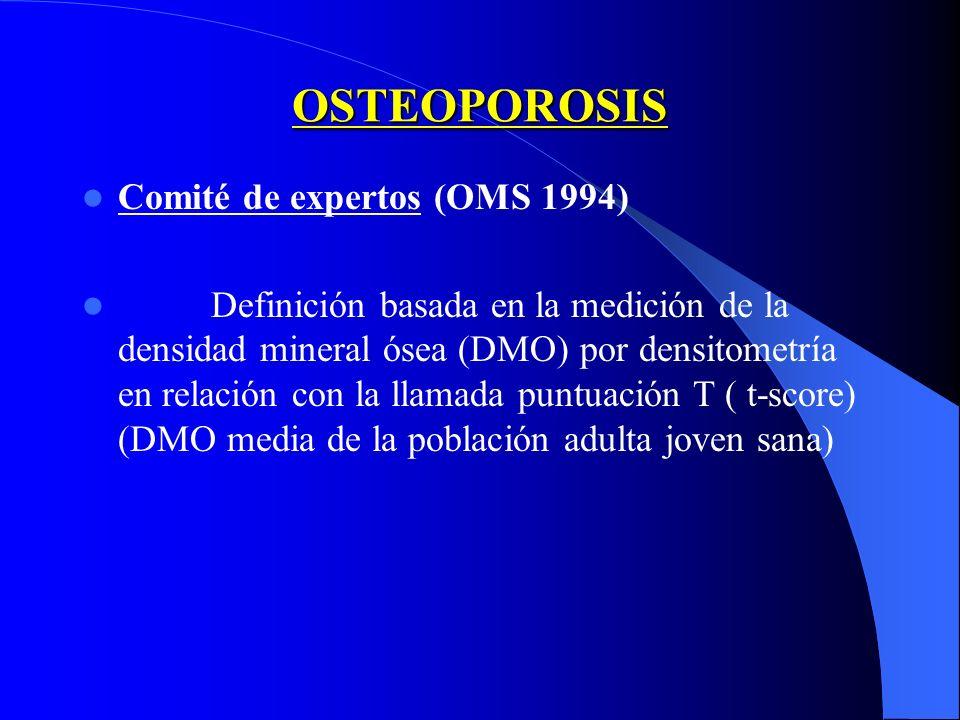 OSTEOPOROSIS Comité de expertos (OMS 1994)