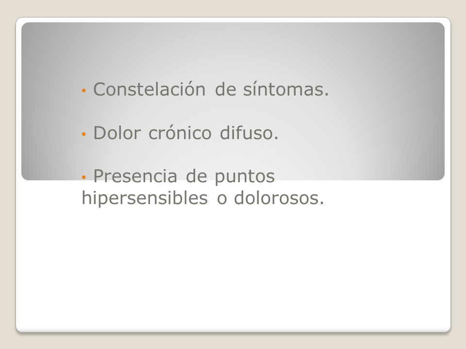 Constelación de síntomas.