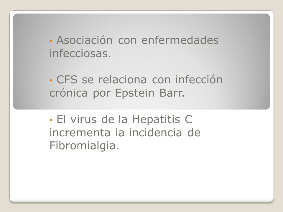 Asociación con enfermedades infecciosas.