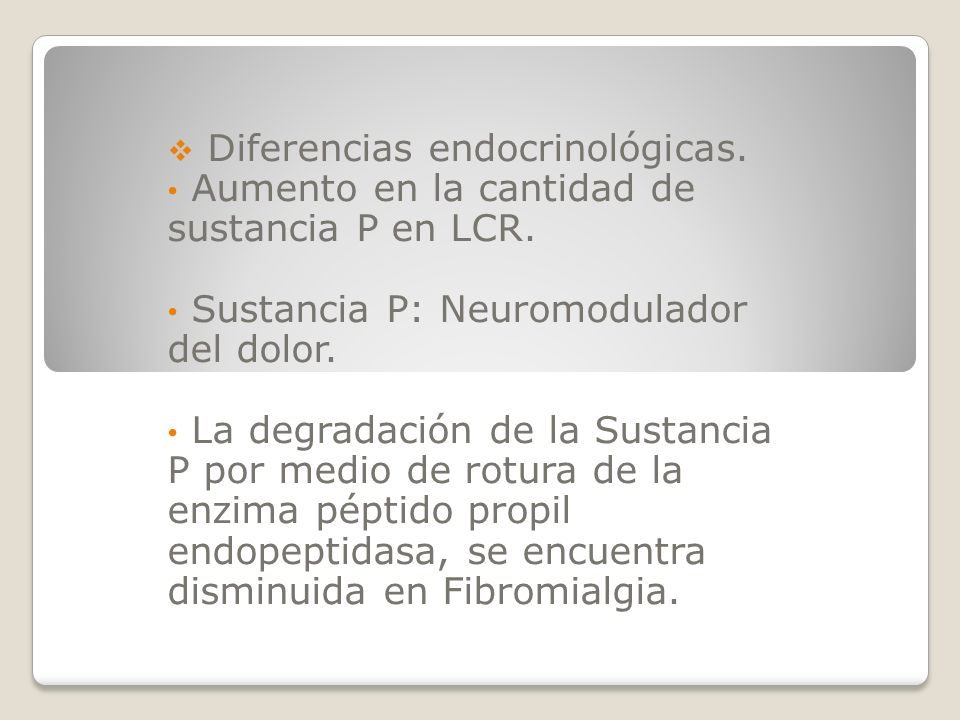 Diferencias endocrinológicas.