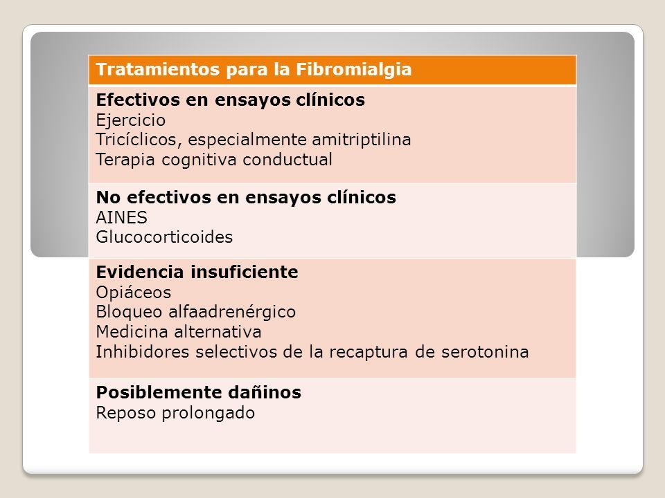 Tratamientos para la Fibromialgia