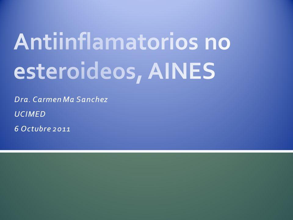 Antiinflamatorios no esteroideos, AINES